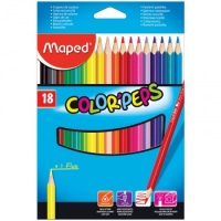"Карандаши Maped ""Color Peps"", 18цв, трехгран., заточен., картон, европодвес"