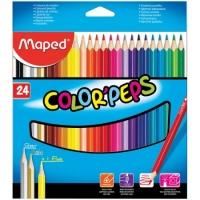 "Карандаши Maped ""Color Peps"", 24цв, трехгран., заточен., картон, европодвес"