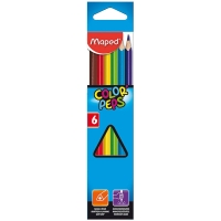 "Карандаши Maped ""Color Peps"", 06цв, трехгран., заточен., картон, европодвес"